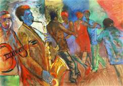 Sandy Esau (b.1968) South African, scene of figures