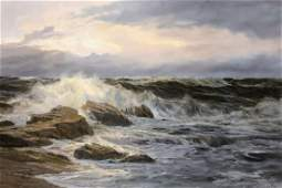 Edgar Fryberg (b.1927) German, a scene of waves