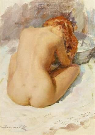 Konstantin Razumov (b.1974) Russian, 'Washing My Hair',