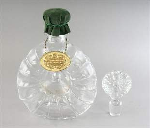 A BACCARAT CRYSTAL REMY MARTIN DECANTER AND STOPPER in