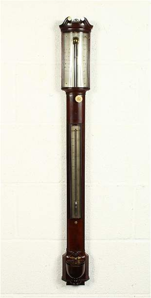A VERY GOOD GEORGE III MAHOGANY BOWFRONT STICK