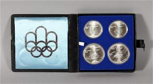 THE OLYMPIC (1976) SET OF FOUR SILVER COINS, Montreal,