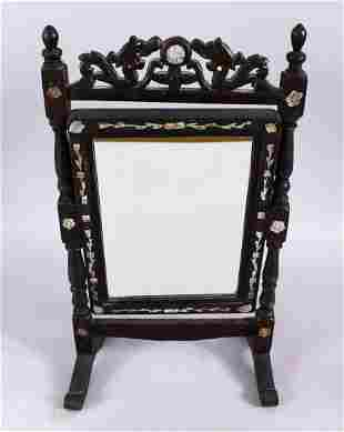 A GOOD 19TH CENTURY CHINESE HARDWOOD & MOTHER OF PEARL