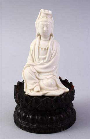 A GOOD CHINESE BLANC DE CHINE PORCELAIN FIGURE OF