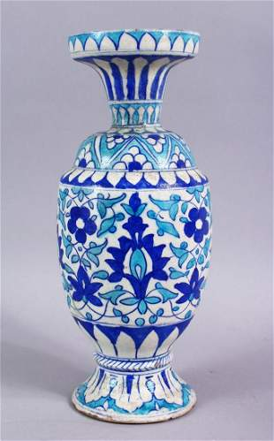 A 19TH CENTURY ISLAMIC BLUE, TURQUOISE AND WHITE