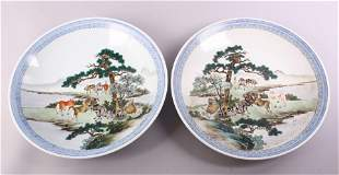 A GOOD PAIR OF CHINESE REPUBLIC FAMILLE ROSE PORCELAIN