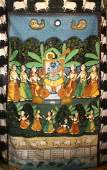 A LARGE RAJASTHAN INDIAN PAINTED TEXTILE PICHWAI PANEL,