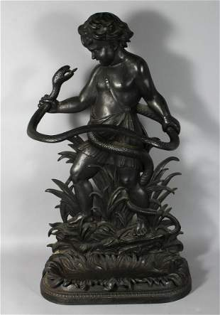 A GOOD LATE 19TH CENTURY CAST IRON STICK STAND, of