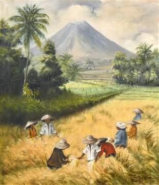Mid-20th century Indonesian School, Figures working in