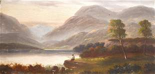William H Day (19th/20th century), A pair of oil on