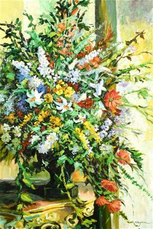 L. Clayton (20th century) A still life of abundant