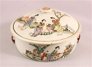 A 19TH CENTURY CHINESE FAMILLE ROSE PORCELAIN BOWL &