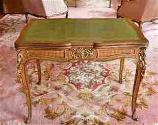 AN 18TH CENTURY FRENCH BUREAU PLAT with pull-out ends,