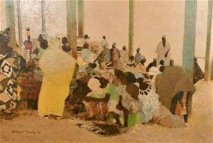 North African School, circa 2001, 'Llotjd' A busy