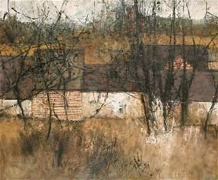 Michel de Gallard (1921-2007) French, 'Village', oil on
