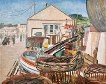 Marjorie Mort (1906-1988) British, 'Newlyn 1959', oil