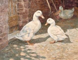 Donna Crawshaw (b.1960) British, 'Three White Ducks',