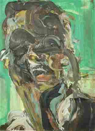 Jennifer Chisholm (b. 1970), A Head Study, oil on