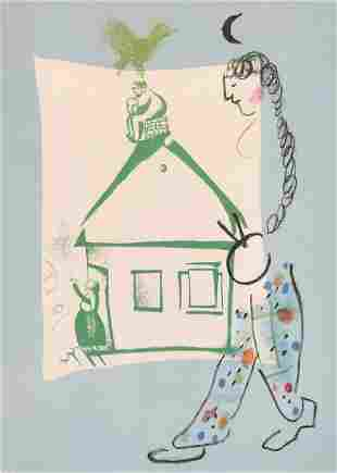 After Marc Chagall (1887-1985) French, 'House in my