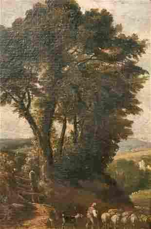 English School, Early Nineteenth Century, An oil study