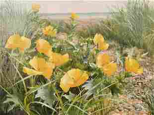 Mary Dipnall (b. 1936) British, 'Yellow Horned
