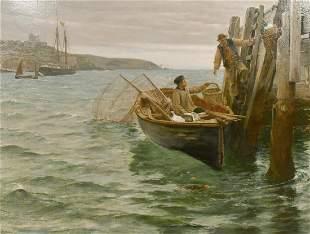 Charles Napier Hemy (1841-1917) British, 'A Slight