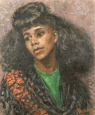 Bruno Beran (1888-1979) Czech, A head and shoulders