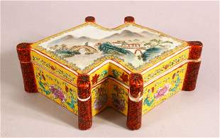 A CHINESE FAMILLE ROSE PORCELAIN BOX & COVER - the li