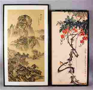 20TH CENTURY CHINESE SCHOOL, mountainous landscape with