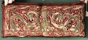 A 17TH/18TH CENTURY SPANISH OR ITALIAN GOLD EMBROIDERED
