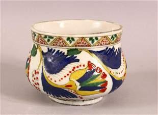 A TURKISH KUTAHYA POTTERY DECORATED BOWL - decorated