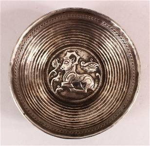 A RARE EARLY PERSIAN SOLID SILVER DOUBLE SKINNED REPOSE