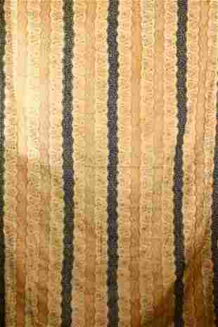 A LARGE INDIAN EMBROIDERED SILK TEXTILE HANGING -