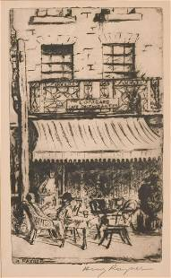 Henry Rayner (1902-1957) Australian, An etching of the