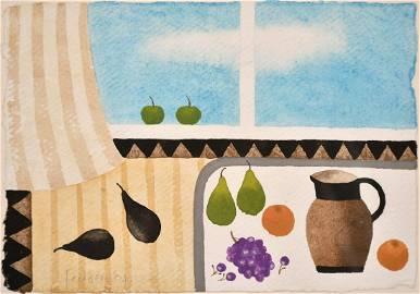 Mary Fedden (1915-2012) British, Still life with fruit