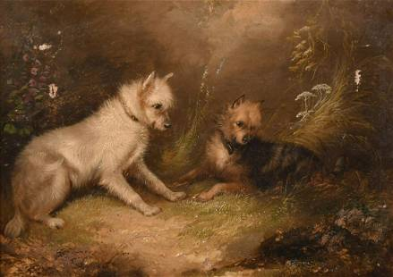 Attributed to George Armfield (1808-1893) British, Two