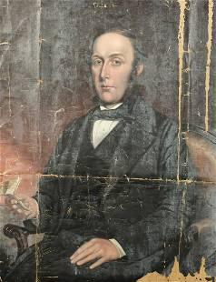 19th Century British School, Portrait of a seated