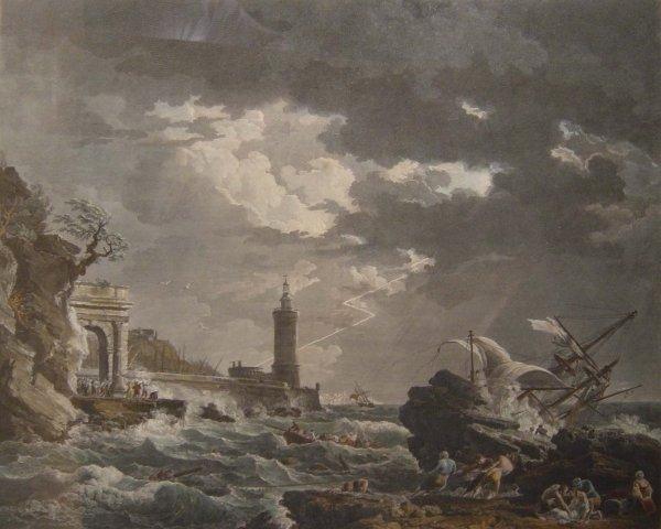 1301: AFTER J. VERNET. Coloured engraving, Michel Ferdi
