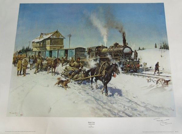 1306: TERENCE CUNEO (1907-1996) BRITISH. Colour print,
