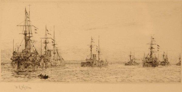 1313: W. L. WYLLIE How the Fleet ---- Moorings No. 2 Re