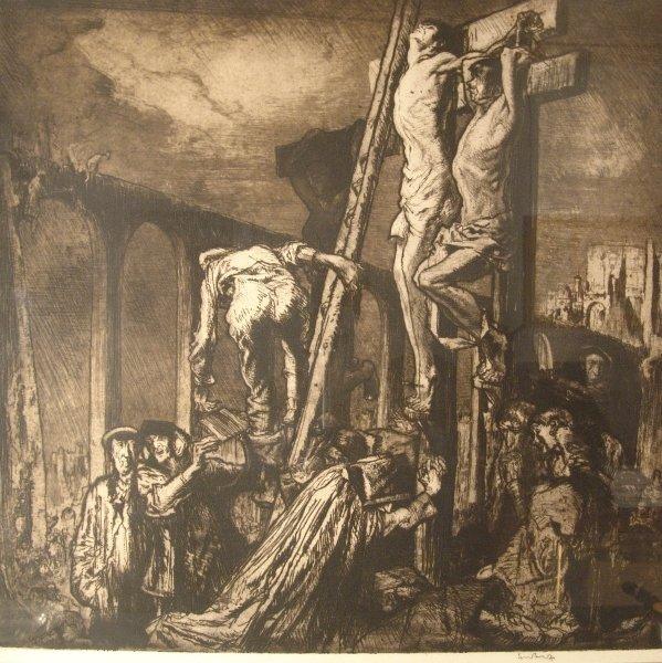 1321: SIR FRANK BRANGWYN (1867-1956) BRITISH The Crucif
