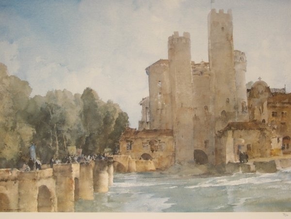 1322: SIR WILLIAM RUSSELL FLINT Colour print Castle No.