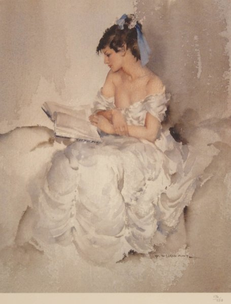 1323: SIR WILLIAM RUSSELL FLINT Cecilia Reading No. 136