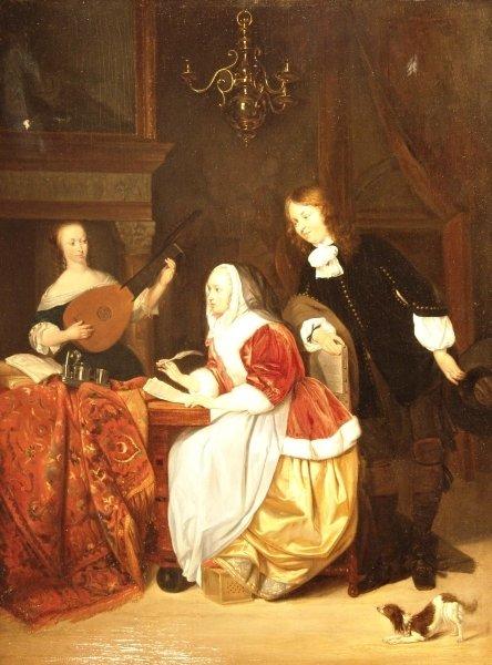 1538: 19TH CENTURY FLEMISH SCHOOL Interior The Music Le