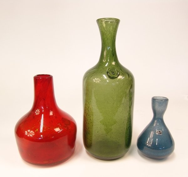 2017: A GROUP OF THREE GLASS BOTTLES by ERIK HOYLAND fo