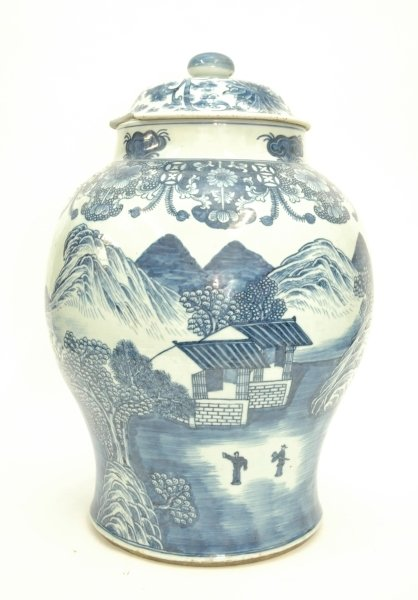 200: A VERY SIMILAR VASE with wrong lid.  24ins high.