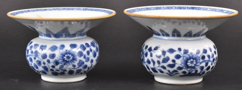 17:  A PAIR OF 18TH CENTURY CHINESE NANKING CARGO BLUE