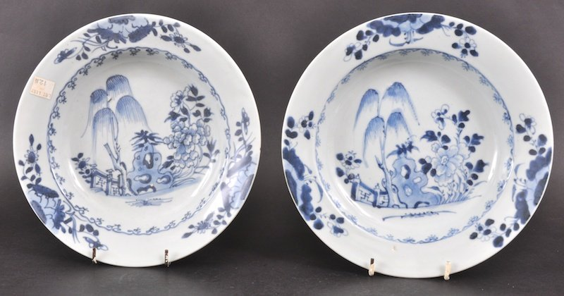 18:  A PAIR OF 18TH CENTURY CHINESE NANKING CARGO BLUE