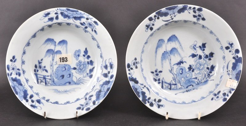 20:  A PAIR OF 18TH CENTURY CHINESE NANKING CARGO BLUE