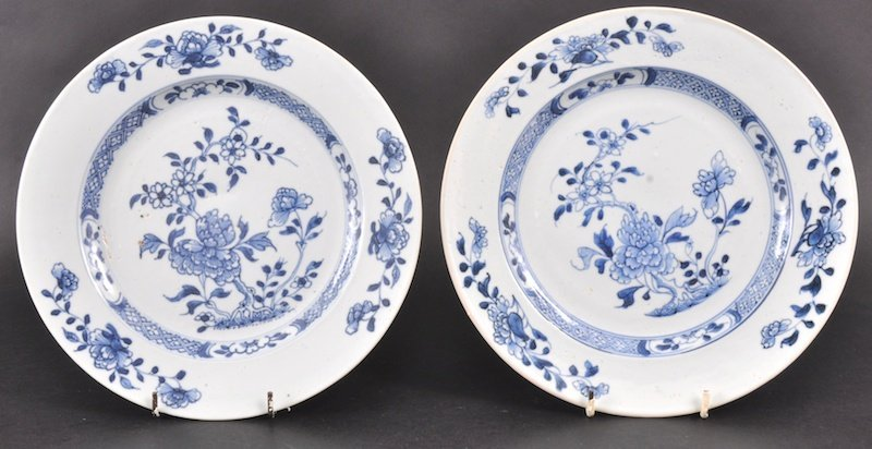 23:  A PAIR OF 18TH CENTURY CHINESE NANKING CARGO BLUE